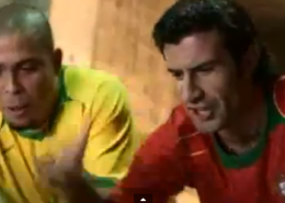 "Pub Nike ""Olé"" Portugal - Brésil"