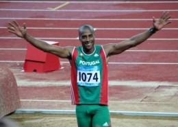 Athlete portugais Nelson Evora - champion du monde et olympique