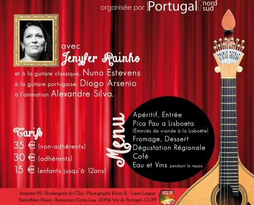 Soirée Fado organisée par l'Association Portugal du Nord au Sud le samedi 24 octobre 2015