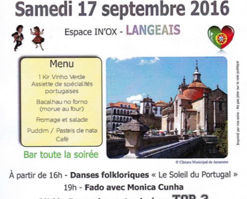Festival portugais organisé par Amitié Langeais Gondar le samedi 17 septembre 2016