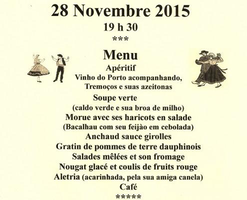 Repas Dansant organisé par ADTTM, le 28 novembre 2015