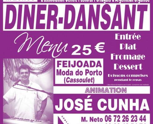 L'association Centre Pastoral Portugais d'Argenteuil organise un Diner-Dansant le 6 février 2015 à la Salle Jean Vilar 2