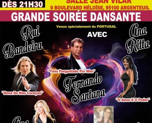 Grande soirée dansante, organisée par l'association Centro Postoral Portugais d'Argenteuil le samedi 19 mars 2016