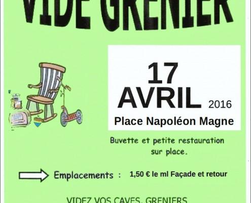 Vide-grenier organisé par ADTTM à Trélissac le 17 avril 2016