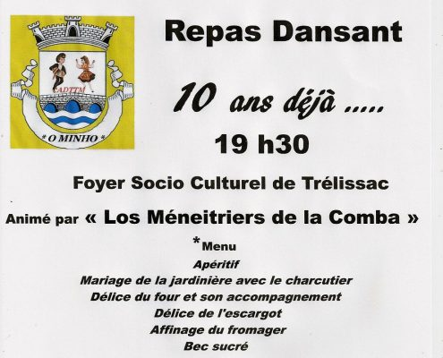 Repas Dansant Folk organisé par l'ATTDM le samedi 8 octobre 2016