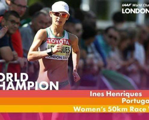 Inês Henriques championne du monde de 50km marche - Londres 2017