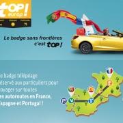 Badge Télépéage France - Espagne - Portugal