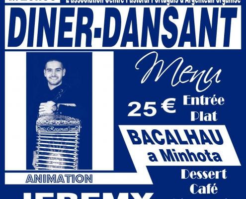 Diner-Dansant à Argenteuil le 20 avril 2019
