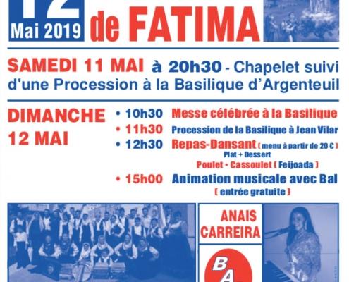 La fête de Notre Dame de FATIMA, Argenteuil 12 mai 2019