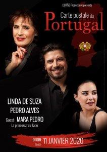 Linda de Suza et Pedro Alves en concert à Dijon le 11 janvier 2020