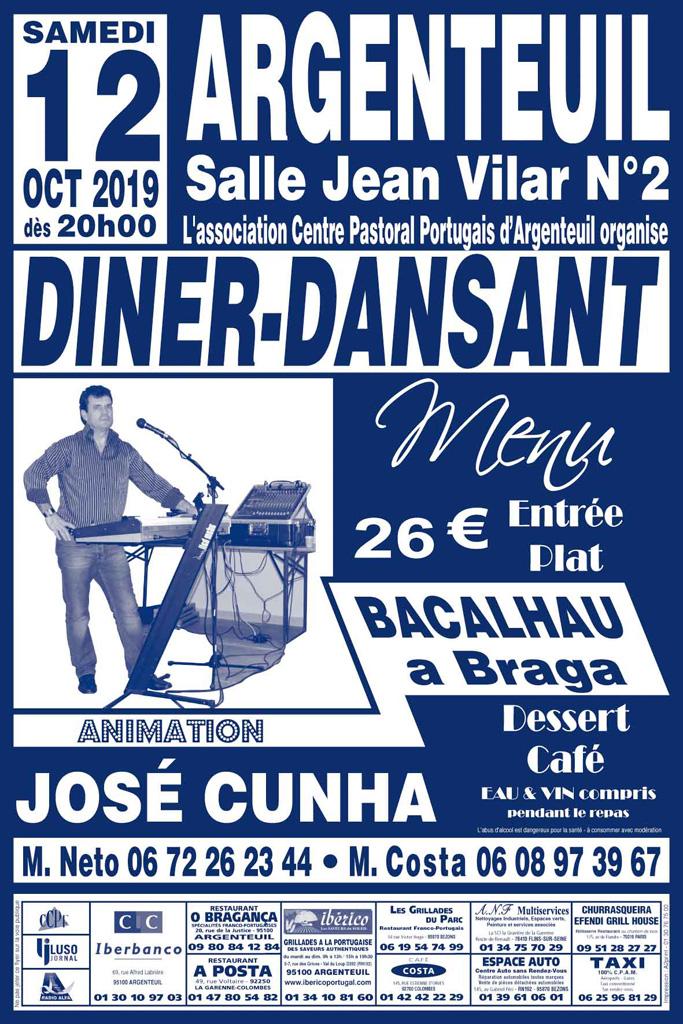 Diner-dansant à Argenteuil le 12 octobre 2019, organisé par l'ACPPA