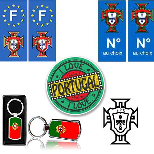 """Stickers et accessoires """"Portugal"""" pour voiture"""