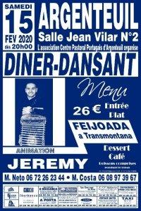 Diner-dansant à Argenteuil le 15 février 2020, organisé par l'ACPPA