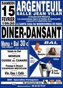Diner-Dansant à Argenteuil, le samedi 15 février 2020