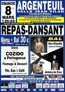 Repas-Dansant à Argenteuil le 8 mars 2020