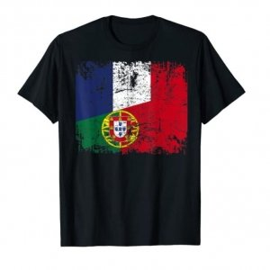 T-shirt France-Portugal noir homme