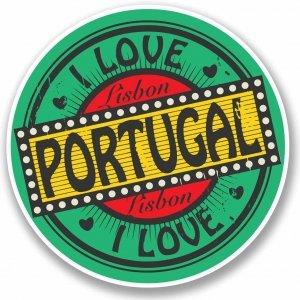 Stickers I love Lisbon Portugal