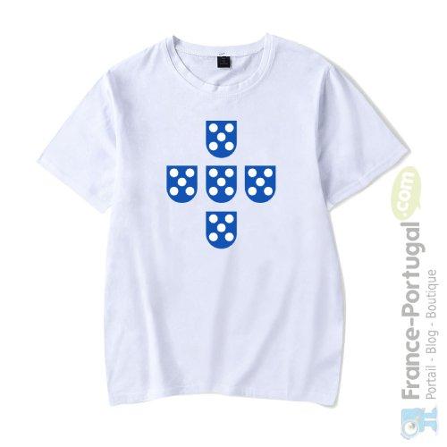 T-shirt blanc QUINAS DE PORTUGAL
