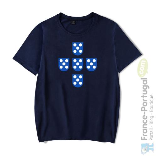 T-shirt bleu marine QUINAS DE PORTUGAL