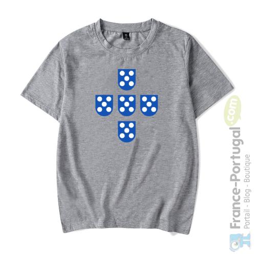 T-shirt gris QUINAS DE PORTUGAL