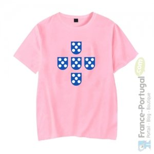 T-shirt rose QUINAS DE PORTUGAL
